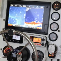 Custom fabricated instrument panel with mounted electronics, supplied and fitted to a Stacer 525 Sea Runner