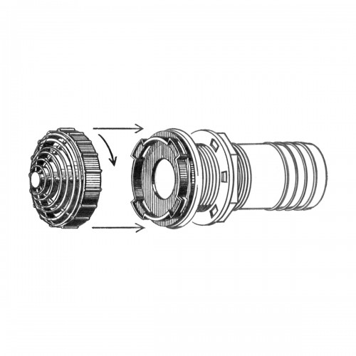 Overflow Fittings with Filter – 38MM, Straight