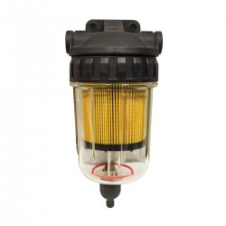 Easterner Fuel Filter - See-Thru with Drain, Plastic Head, Complete Assembly