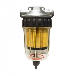 Easterner Fuel Filter - See-Thru with Drain, Alloy Head, Complete Assembly
