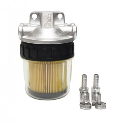 Easterner Fuel Filter - See-Thru, No Drain, Alloy Head, Complete Assembly