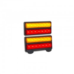 LED Autolamps - Rectangular Boat Trailer Lights, Submersible