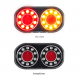 LED Autolamps - Round Boat Trailer Lights, Submersible with 8M Cables